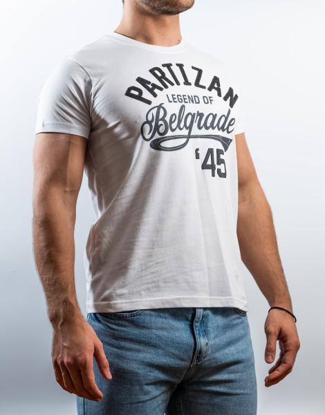 """Tshirt Partizan - """"Partizan 45"""" (weiss)"""