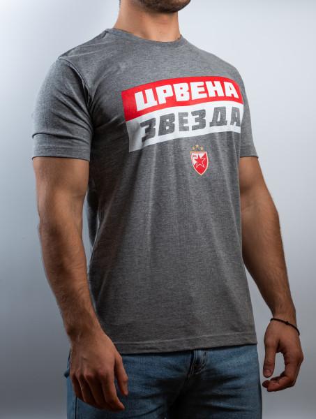 """Tshirt Crvena Zvezda - """"Crvena Zvezda"""" (grau)"""