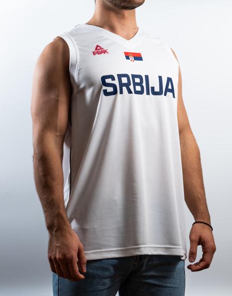 Basketballtrikot Serbien - Peak (weiss)
