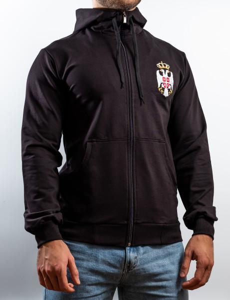 "Sweater Serbien - ""Emblem"" (schwarz)"